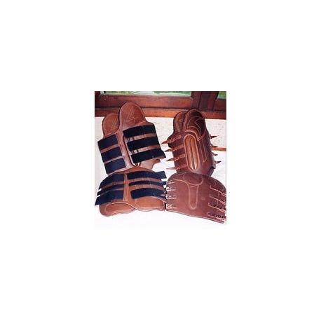 Guêtres cuir/Velcro/antérieur