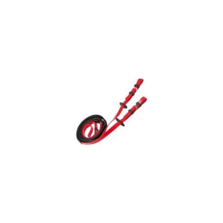 Rênes courses 19mm rouge