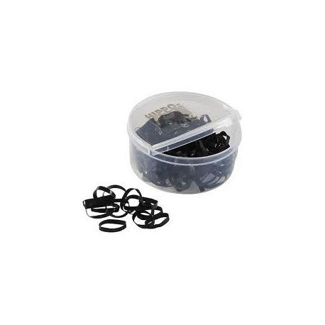 Elastiques à natter noir en silicone
