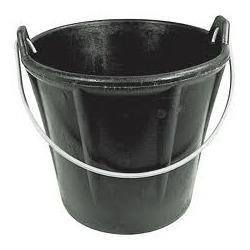 Seau caoutchouc noir